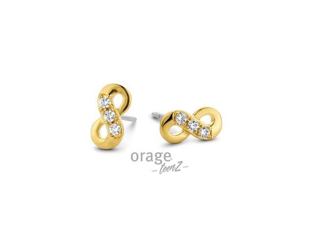 Orage Teenz | Boucles d'Oreilles |Plaqué Or| Infini | T476