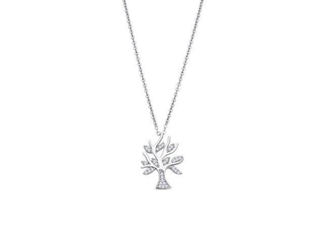 Lotus Silver | Collier | Argent | Oxyde de Zirconium | LP3064-1/1
