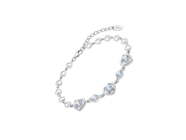 Lotus Silver | Bracelet | Argent | Coeur | LP3092-2/1