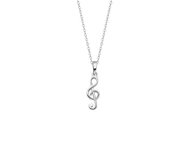 Lotus Silver | Collier | Argent | Clé de Sol | LP3053-1/1