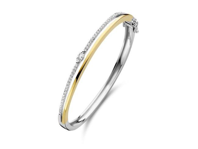 Naiomy Silver   Bracelet   Esclave   Argent   Bicolore   B1K08