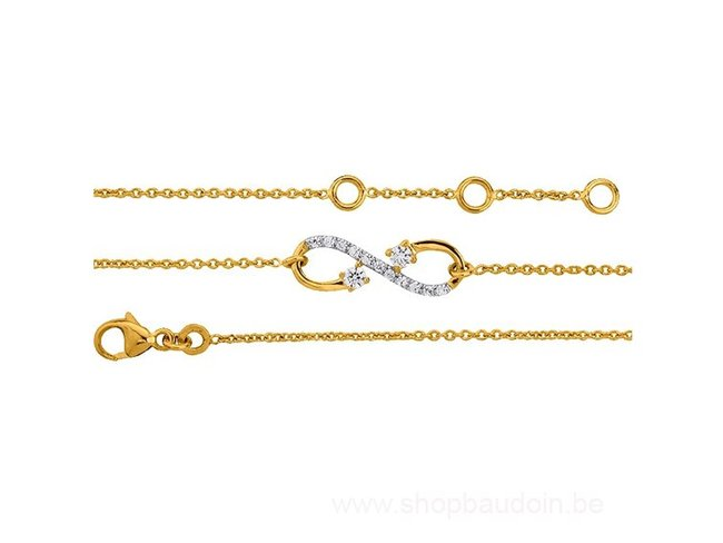 Saunier | Bracelet | Plaqué or | infini | 7027161 01