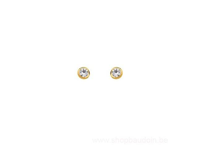 Saunier | Boucles d'Oreilles | Plaqué Or | 4mm | 7019024 01