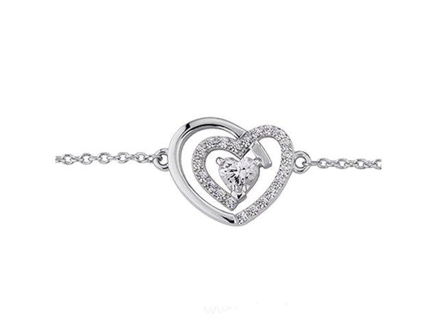 Saunier | Bracelet | Argent | Coeur | 7033666 11