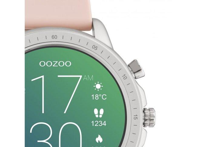 OOZOO | Swartwatch | Caoutchouc Rose | Argenté |Q00312