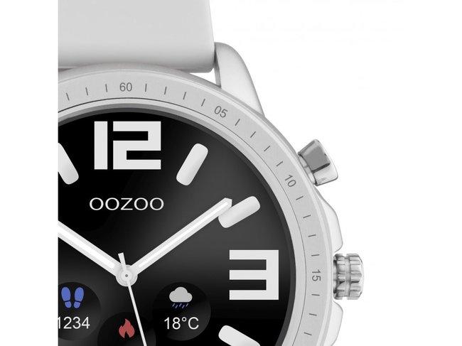 OOZOO | Swartwatch | Caoutchouc Gris | Argenté |Q00311