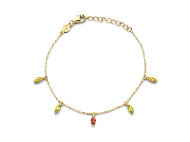 Naiomy Silver | Bracelet | Plaqué Or | B1B27