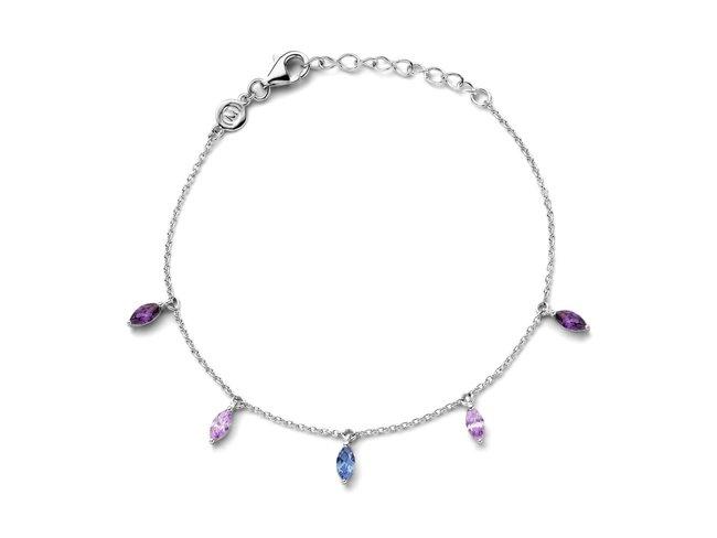 Naiomy Silver | Bracelet | Argent | Oxyde de Zirconium | B1B21