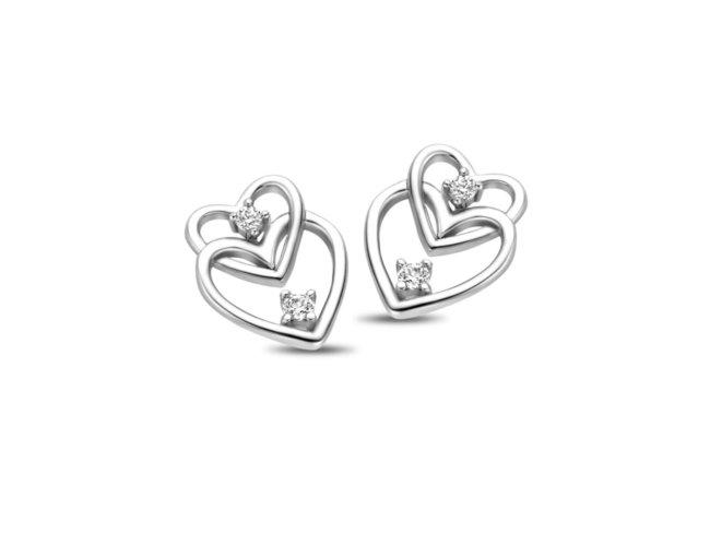 Naiomy Silver | Boucles d'Oreilles | Argent | Coeur | B1G07
