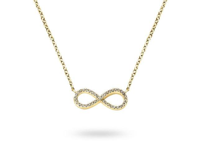 Diamanti Per Tutti | Collier | Plaqué Or | Diamants | M319 DO