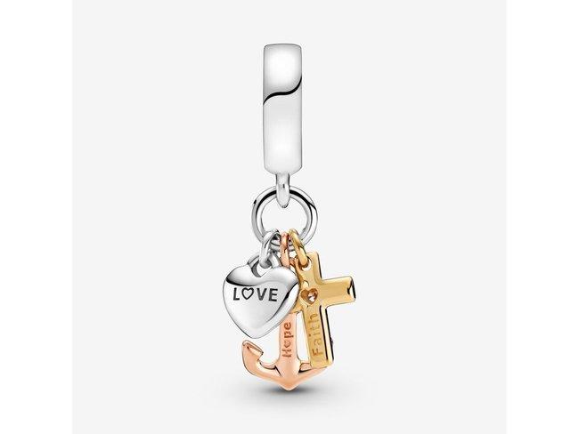 Pandora | Charm | Croix Coeur & Ancre Tricolore |799354C01