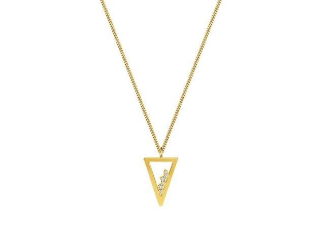 Diamanti Per Tutti | Collier | Plaqué Or | Diamants | M1713 DO