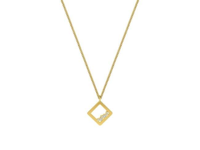 Diamanti Per Tutti | Collier | Plaqué Or | Diamants | M1712 DO