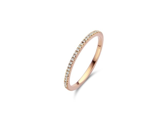 Diamanti Per Tutti | Bague | Plaqué Or | Dimants | M347 RO