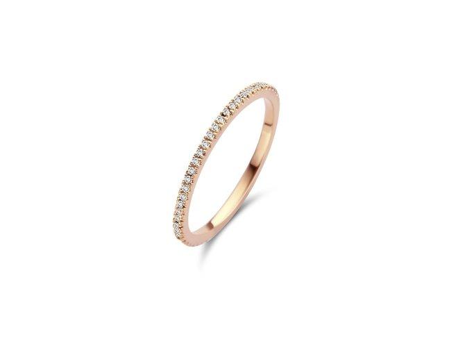 Diamanti Per Tutti | Bague | Plaqué Or | Diamants | M219 RO
