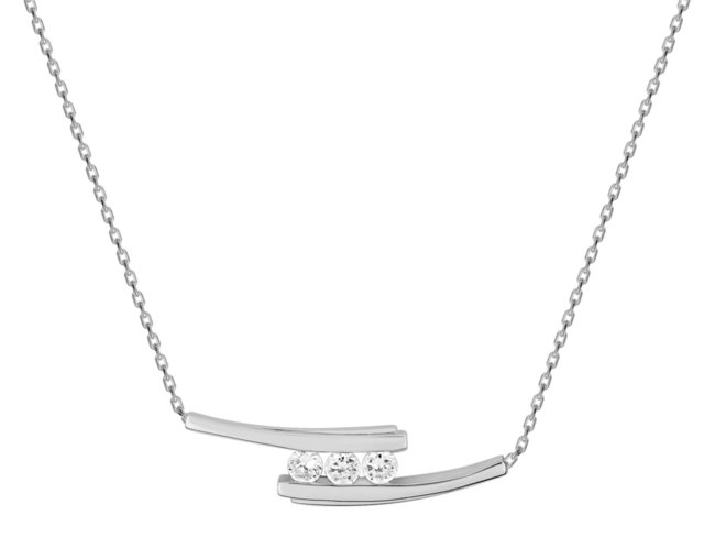 Loumya Silver | Collier | Argent | Oxyde de Zirconium | RM332428.1