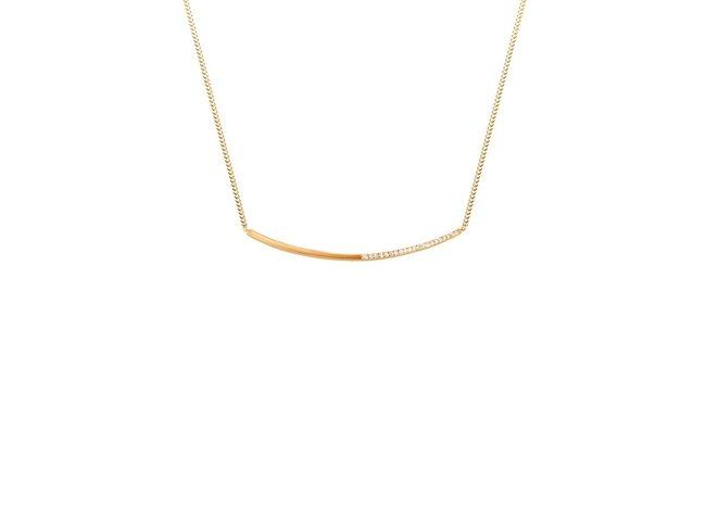Diamanti Per Tutti | Collier | Plaqué Or | Diamants | M259 DO