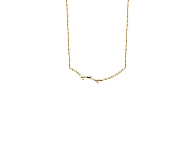 Diamanti Per Tutti | Collier | Plaqué Or | Diamants | M1462 DO