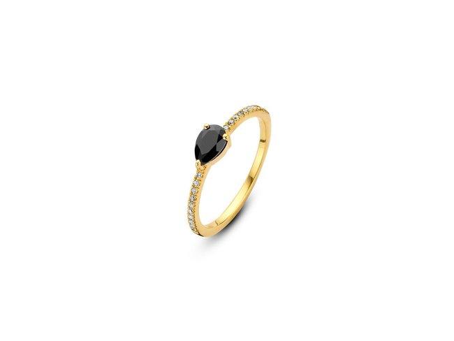 Diamanti Per Tutti | Bague | Plaqué Or | Onyx | M1445 DO