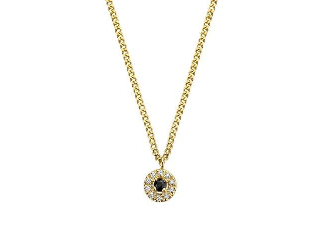 Diamanti Per Tutti | Collier | Plaqué Or | Diamants | M1849 DO