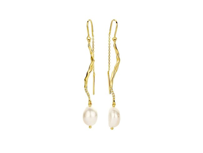 Diamanti Per Tutti | Boucles d'Oreilles | Plaqué Or | Perle | M1655 DO