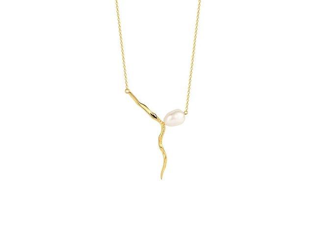 Diamanti Per Tutti | Collier | Plaqué Or | Perle | M1656 DO
