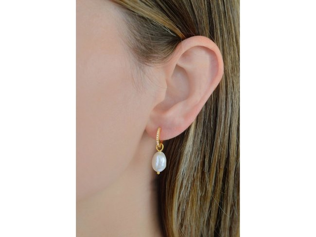 Diamanti Per Tutti | Boucles d'Oreilles | Plaqué Or | Perle | M1611 DO