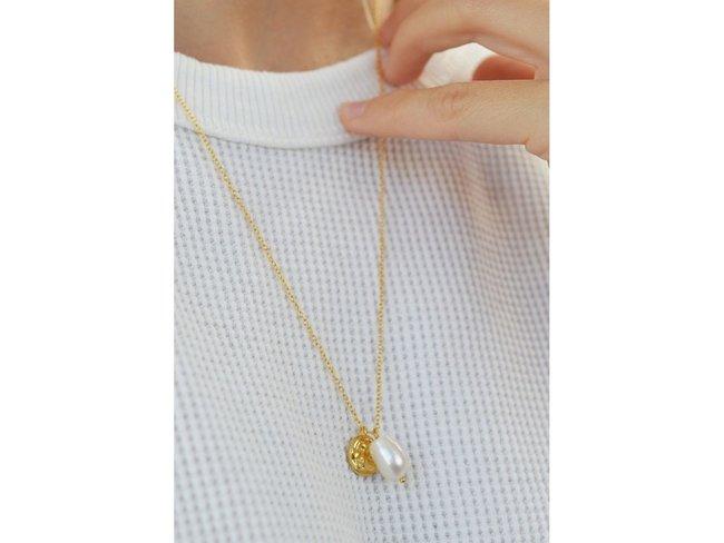 Diamanti Per Tutti | Collier | Plaqué Or | Perle | M1609 DO