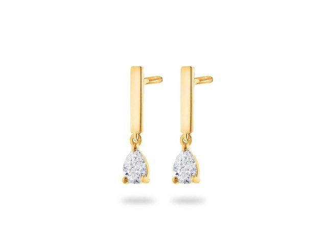 Loumya Gold | Boucles d'Oreilles | Or Jaune | Diamant | BE063818