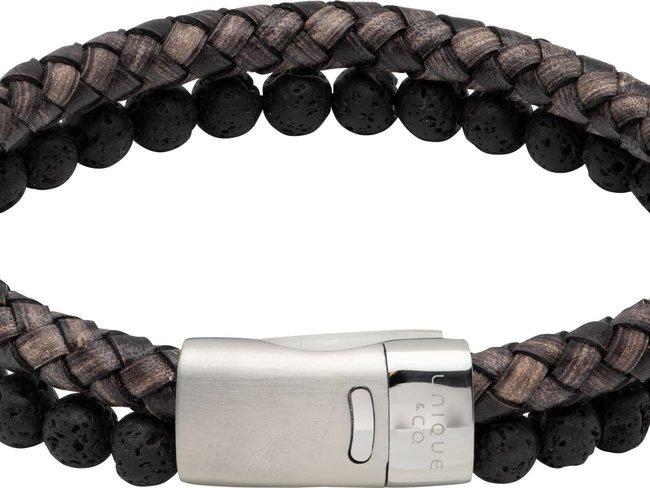 Unique   Bracelet   Cuir   Pierre Naturelle   B482ABL