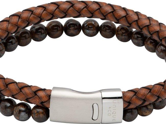 Unique | Bracelet | Cuir | Pierre Naturelle | B482ADB