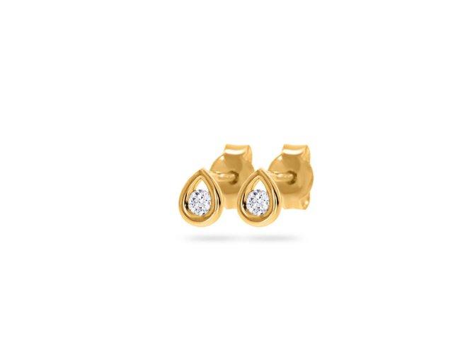 Loumya Gold | Boucles d'Oreilles | Or jaune | Diamants |BE062473