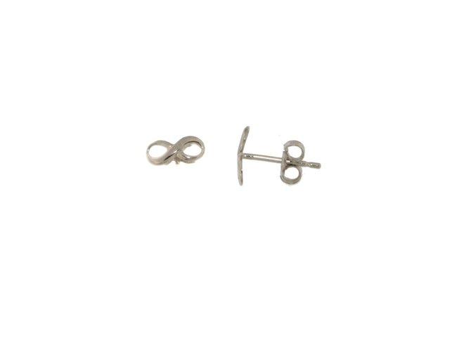 Loumya Gold | Boucles d'Oreilles | Or Blanc | Infini | BE061282