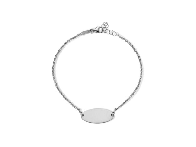 Loumya Gold | Bracelet Identité |  Femme | Or Blanc