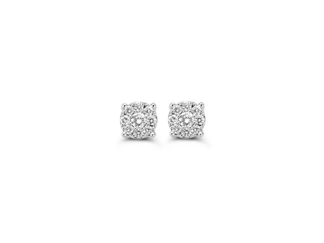 Loumya Gold | Boucles d'oreilles | Or Blanc | Diamants |939M32/A