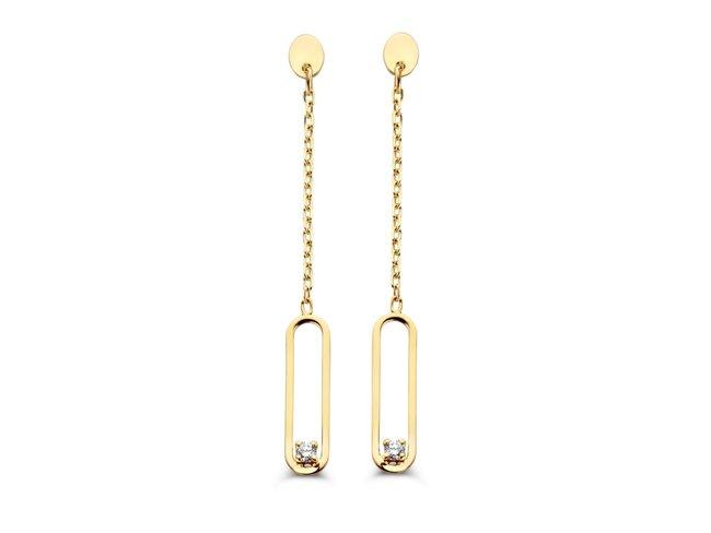 Loumya Gold | Boucles d'Oreilles | Or Jaune | Diamants |BE063131