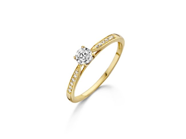 Loumya Gold | Bague | Or Jaune | Diamants | BE056926/A/4