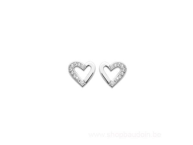 Bijoux CN Paris | Boucles d'Oreilles | Argent | Coeur | 1578910
