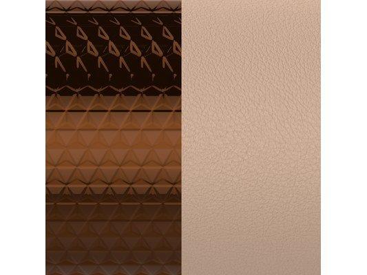 Les Georgettes | Cuir | Manchette | Bronze Cubique/Pêche Q7