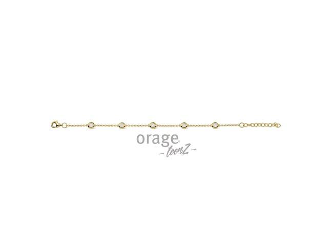 Orage Teenz | Bracelet | Plaqué Or | Oxyde de Zirconium | T436