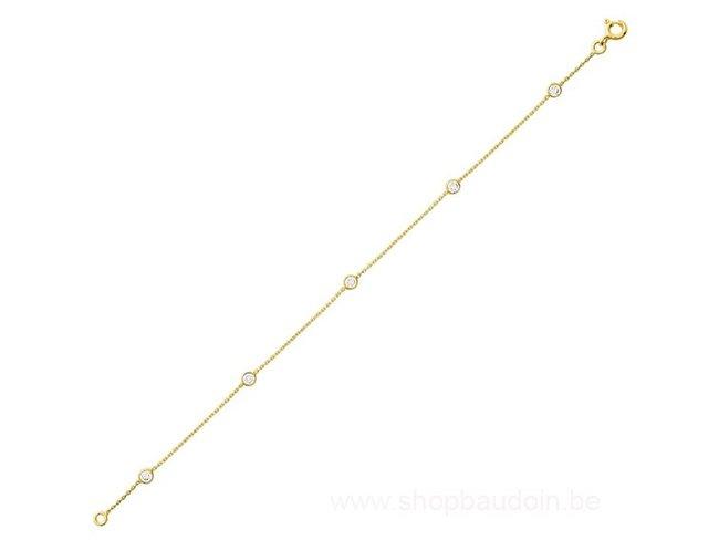 Loumya Gold | Bracelet | Or Jaune | Oxyde de Zirconium | RM772Z