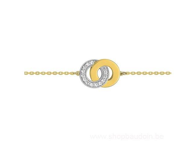 Loumya Gold | Bracelet | Or Jaune |Oxyde de Zirconium| RM68