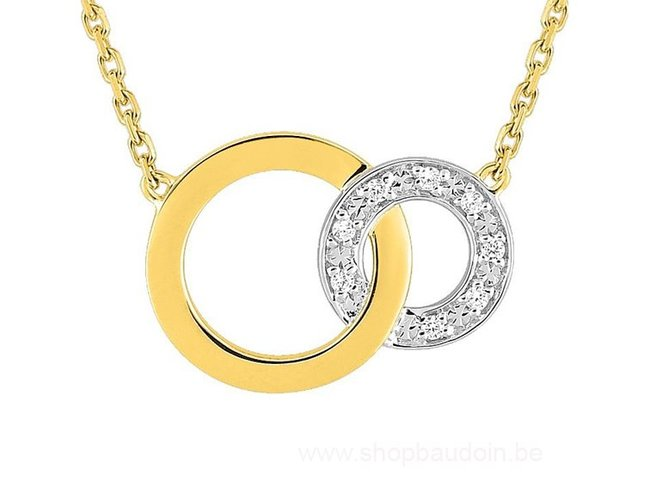 Loumya Gold | Collier | Or Jaune | Bicolore | Diamants | RM523