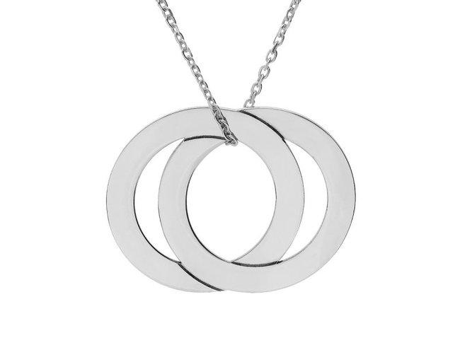 Loumya Silver | Collier | Argent | Double Cercle | Personnalisable