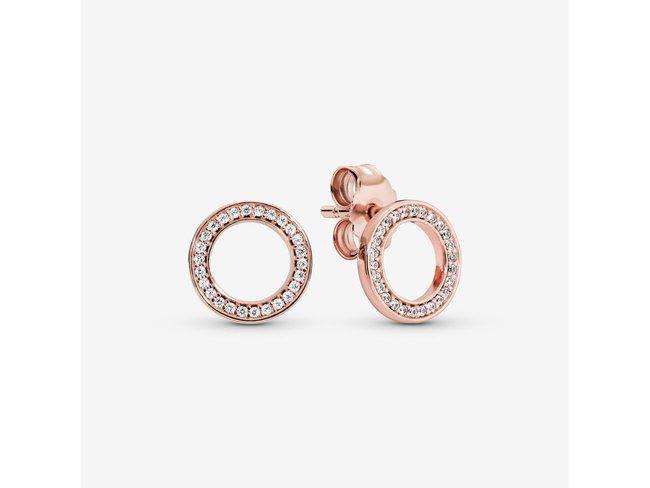 Pandora   Boucles d'Oreilles   Cercles Rosé   280585CZ