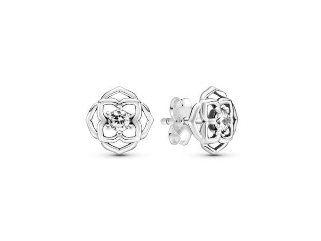 Pandora   Boucles d'Oreilles   Pétales de Rose   299371C01