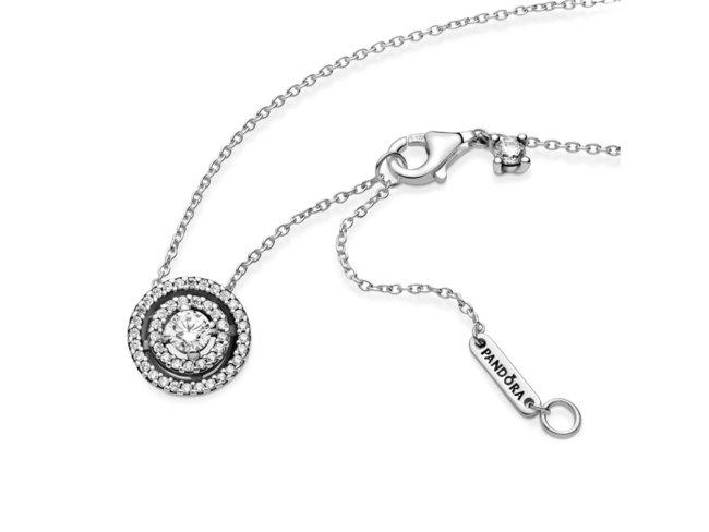 Pandora | Collier | Double Halo Etincelant | 399414C01