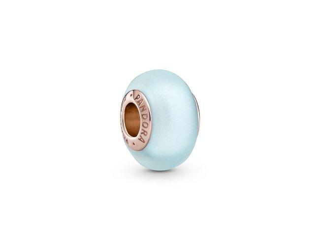 Pandora | Charm | Rosé | Murano Bleu Mat | 789420C00