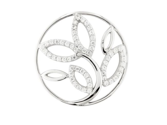 My Imenso | Insigne | Argent | 33mm | Fleur | 33-1396
