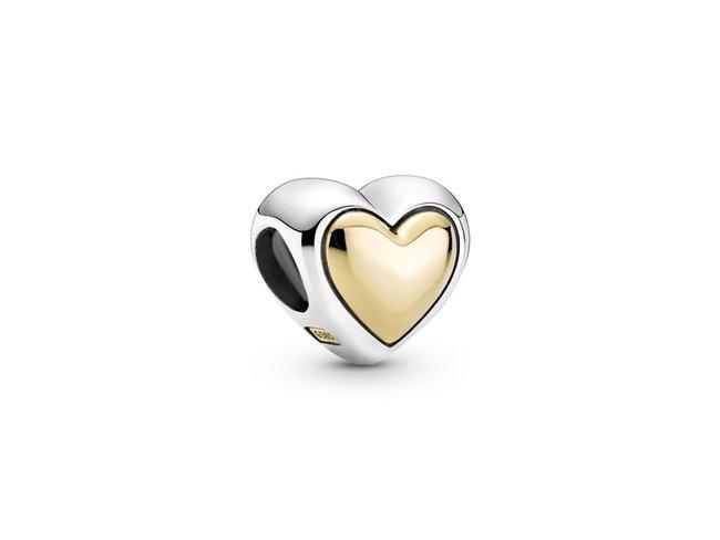 Pandora | Charm | Coeur Doré Bombé | 799415C00